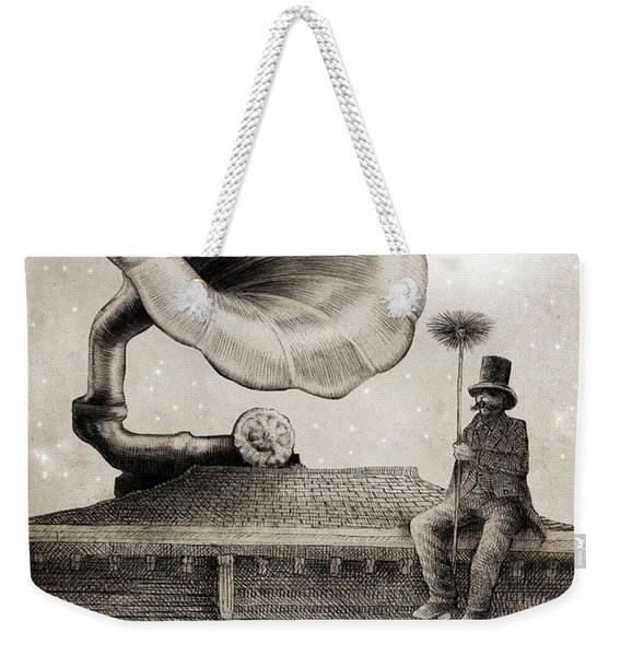 The Chimney Sweep Monochrome Weekender Tote Bag