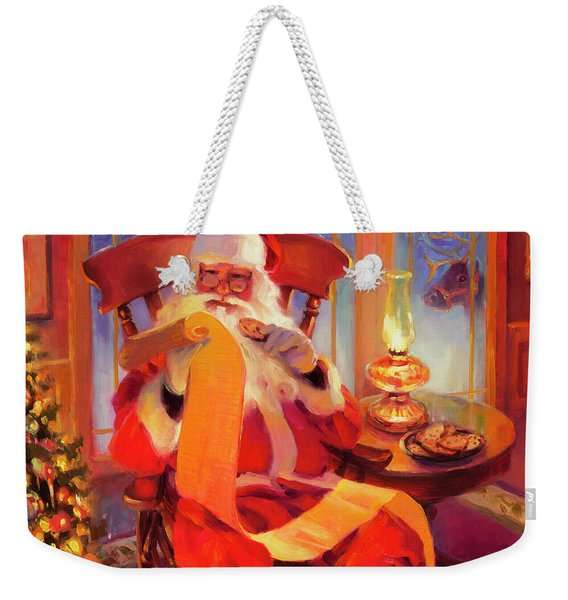 The Christmas List Weekender Tote Bag