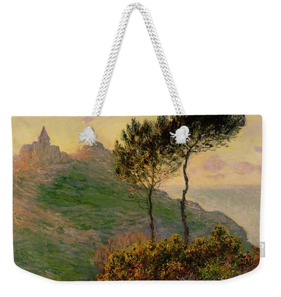 The Church At Varengeville Against The Sunlight Weekender Tote Bag