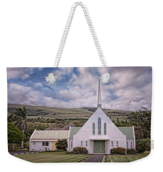 Weekender Tote Bag featuring the photograph The Church by Jim Thompson