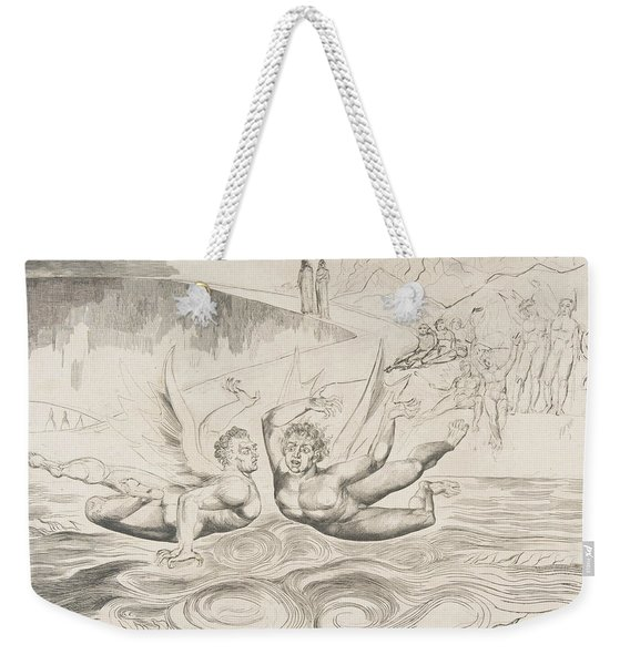 The Circle Of Corrupt Officials, The Devils Mauling Each Other Weekender Tote Bag