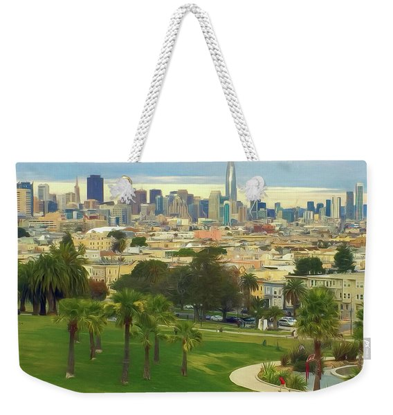The City From Dolores Park Weekender Tote Bag
