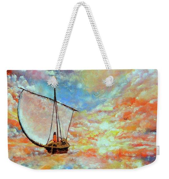 The Cloud Boatman Weekender Tote Bag
