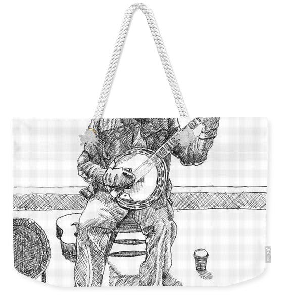 The Cold Banjo Player Weekender Tote Bag