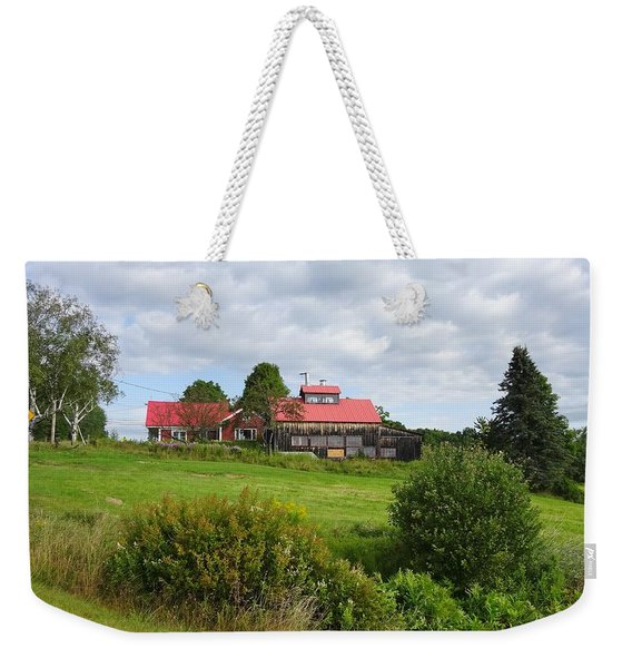 The Color Of The Roof Has No Ceiling Weekender Tote Bag