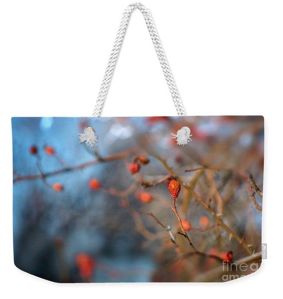 The Color Of Winter Weekender Tote Bag