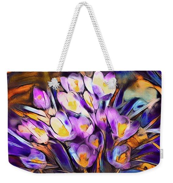 The Colors Of Crocus Weekender Tote Bag