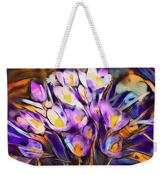 The Colors Of Crocus Weekender Tote Bag
