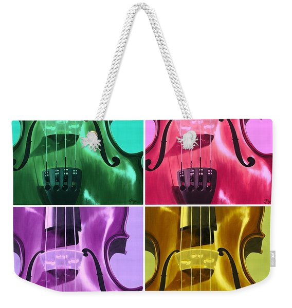 The Colors Of Sound Weekender Tote Bag