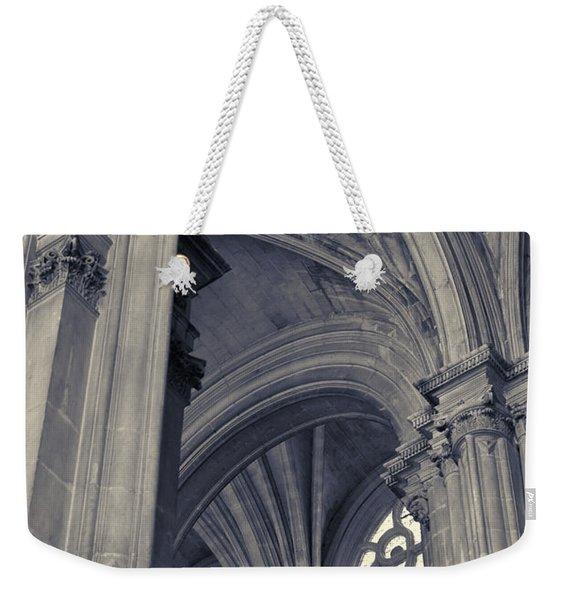 The Columns Of Saint-eustache, Paris, France. Weekender Tote Bag