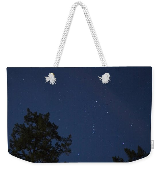 The Constellation Orion At Night Weekender Tote Bag