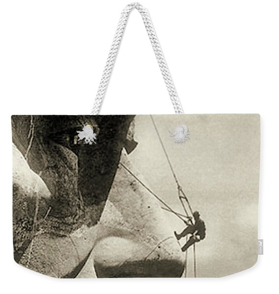 The Construction Of The Mount Rushmore National Memorial, Detail Of Abraham Lincoln,1928  Weekender Tote Bag