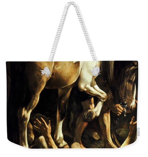 The Conversion Of Saint Paul Weekender Tote Bag