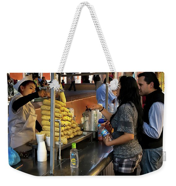 The Corn Vendor Weekender Tote Bag