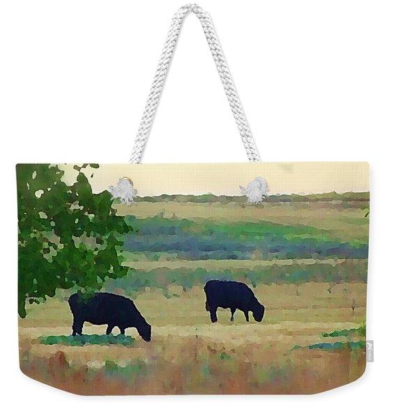 The Cows Next Door Weekender Tote Bag