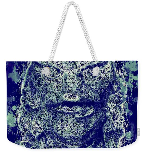 Weekender Tote Bag featuring the mixed media Creature From The Black Lagoon by Al Matra