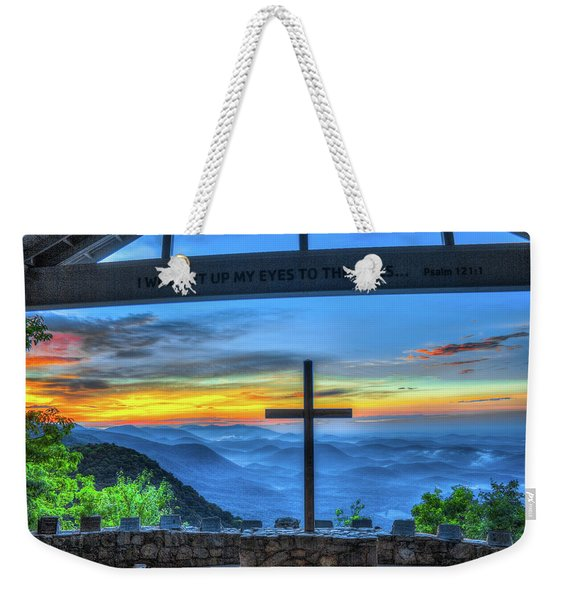 The Cross Sunrise At Pretty Place Chapel Weekender Tote Bag