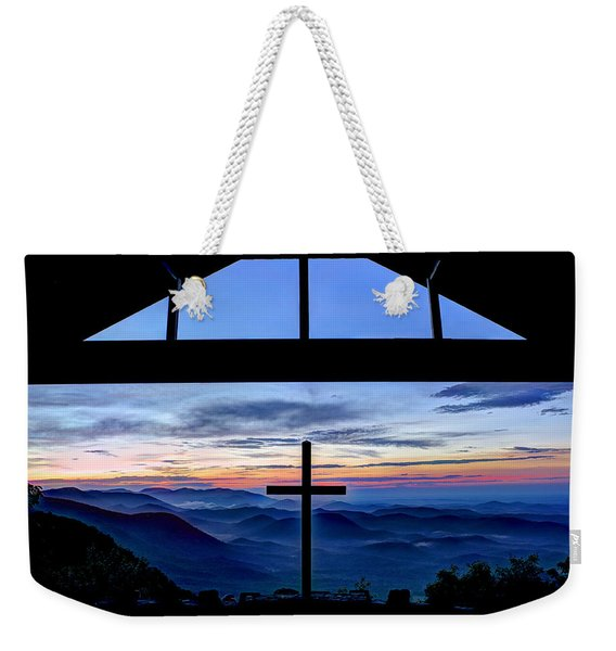 The Cross Unmerited Love Pretty Place Chapel Weekender Tote Bag