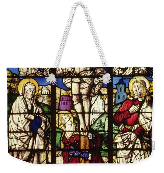 The Crucifixion, Stained Glass Window Weekender Tote Bag