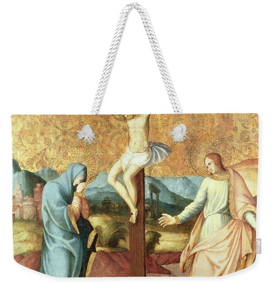 The Crucifixion With The Virgin And St John The Evangelist Weekender Tote Bag
