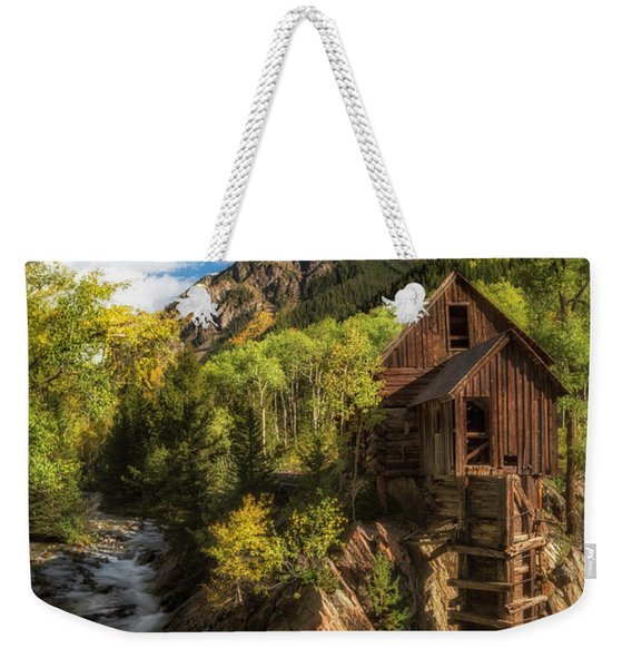 The Crystal Mill Weekender Tote Bag