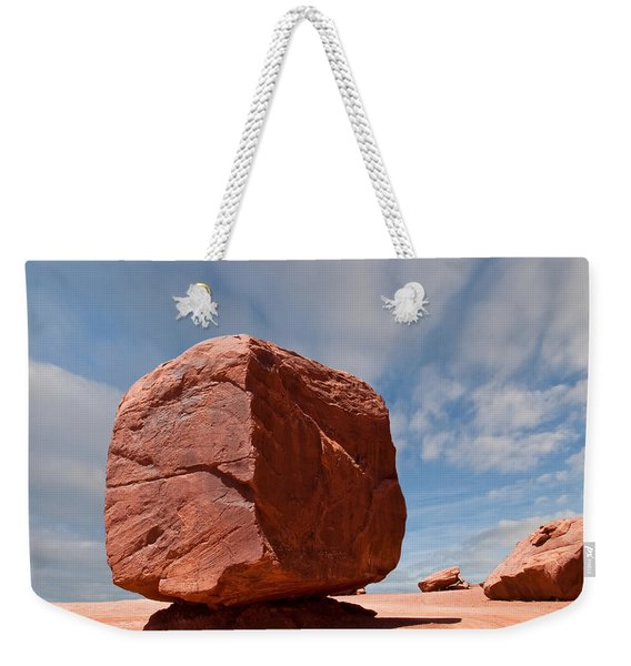 The Cube At Monument Valley Weekender Tote Bag