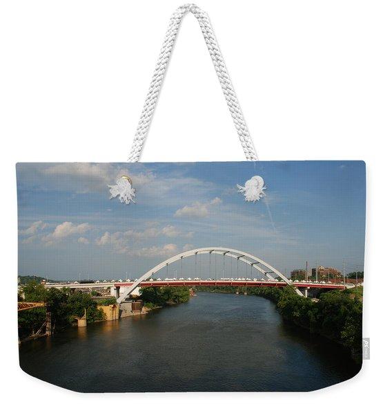 The Cumberland River In Nashville Weekender Tote Bag