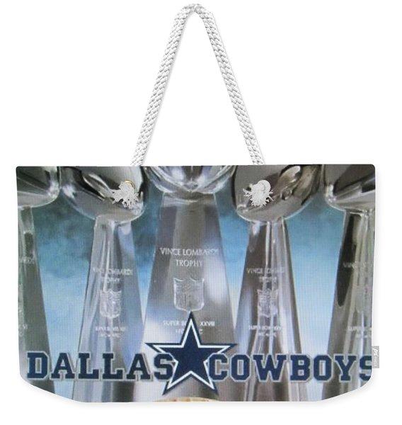 The Dallas Cowboys Championship Hardware Weekender Tote Bag