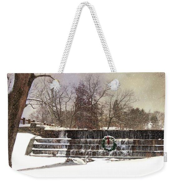 The Dam At Christmas Weekender Tote Bag