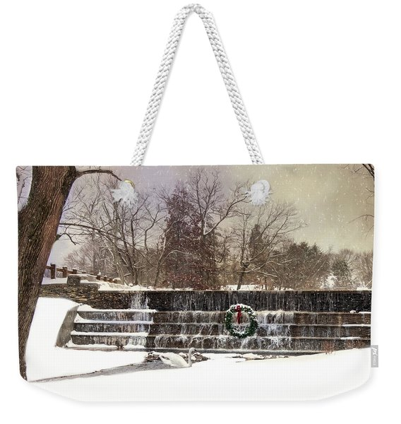 The Dam At Christmas Weekender Tote Bag