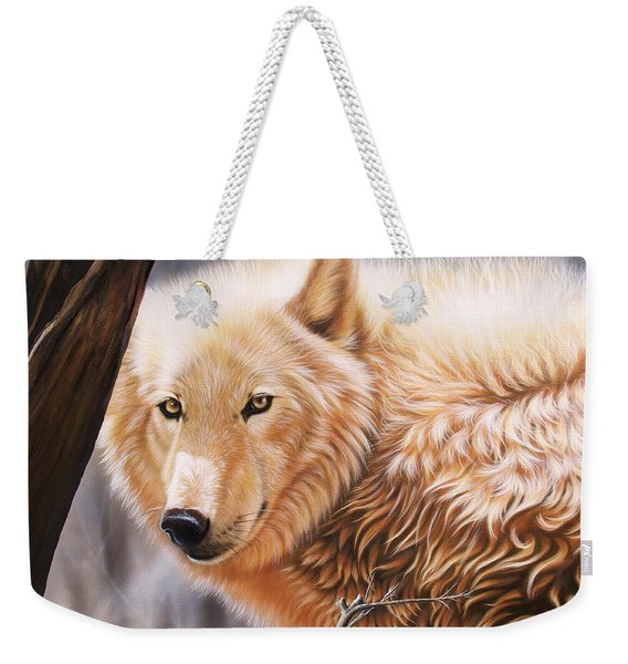 Weekender Tote Bag featuring the painting The Daystar II by Sandi Baker