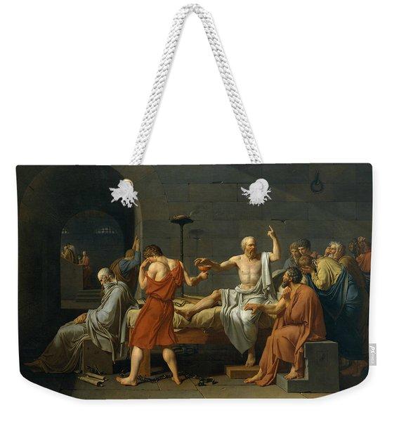 The Death Of Socrates, 1787 Weekender Tote Bag