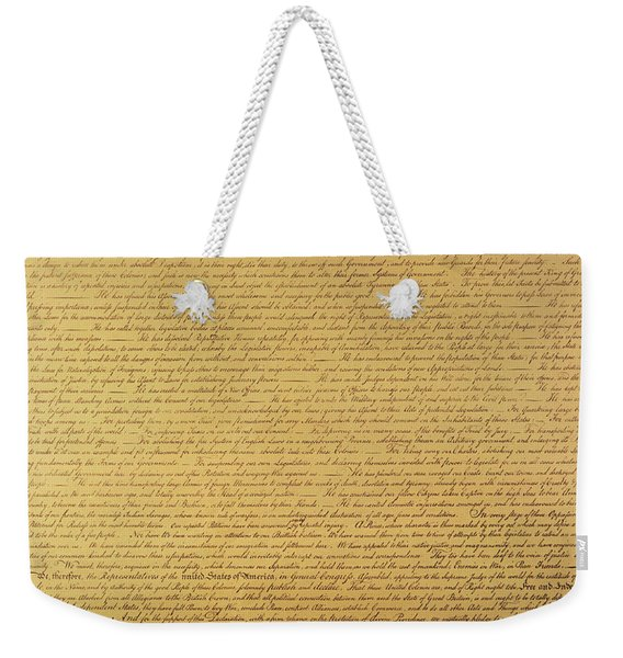 The Declaration Of Independence Weekender Tote Bag