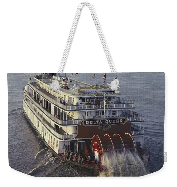 The Delta Queen, A Steamboat, Makes Weekender Tote Bag