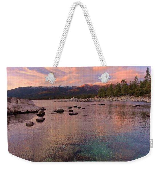 The Depths Of Sundown Weekender Tote Bag