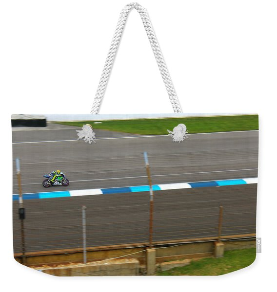 The Doctor At Indy  Valentino Rossi  Weekender Tote Bag
