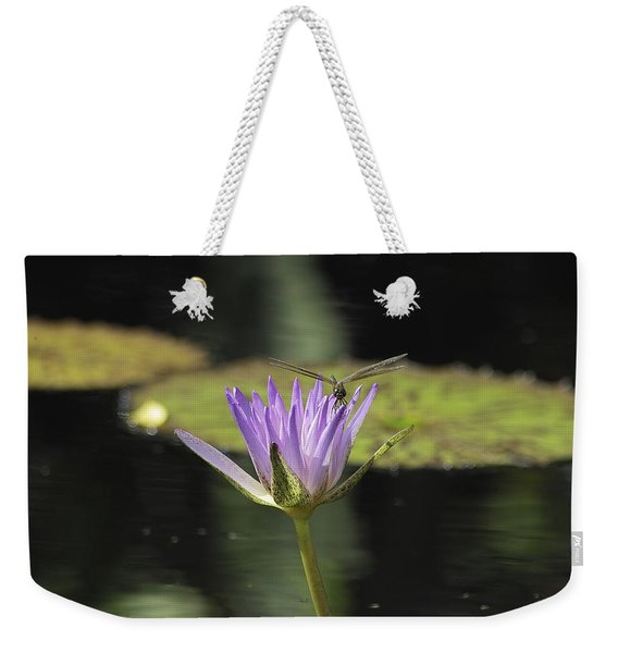 The Dragonfly And The Lily Weekender Tote Bag