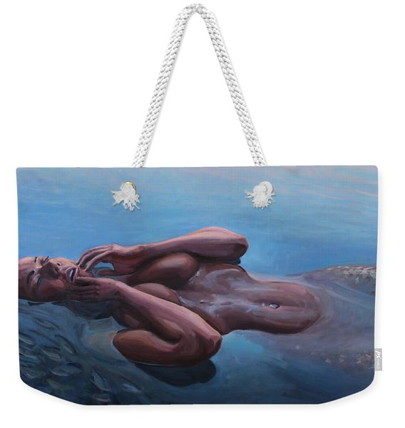 The Dreaming Mermaid Weekender Tote Bag