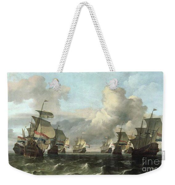 The Dutch Fleet Of The India Company Weekender Tote Bag