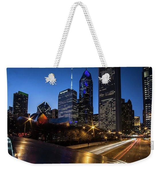 The East Side Skyline Of Chicago  Weekender Tote Bag