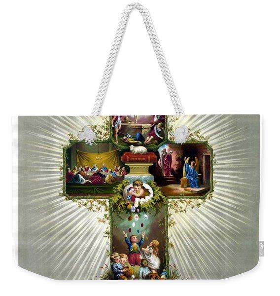 The Easter Cross Weekender Tote Bag