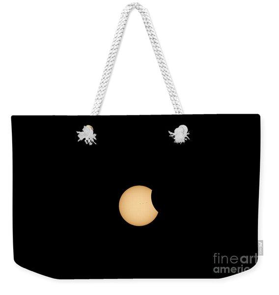 The Eclipse Begins Weekender Tote Bag