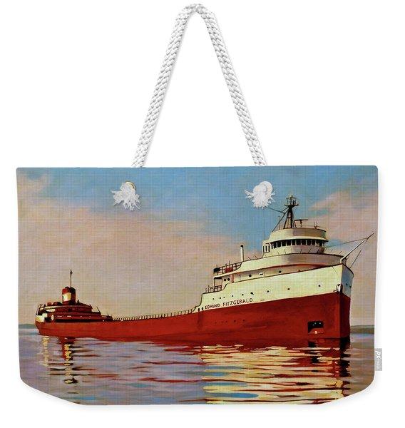 The Edmund Fitzgerald Weekender Tote Bag