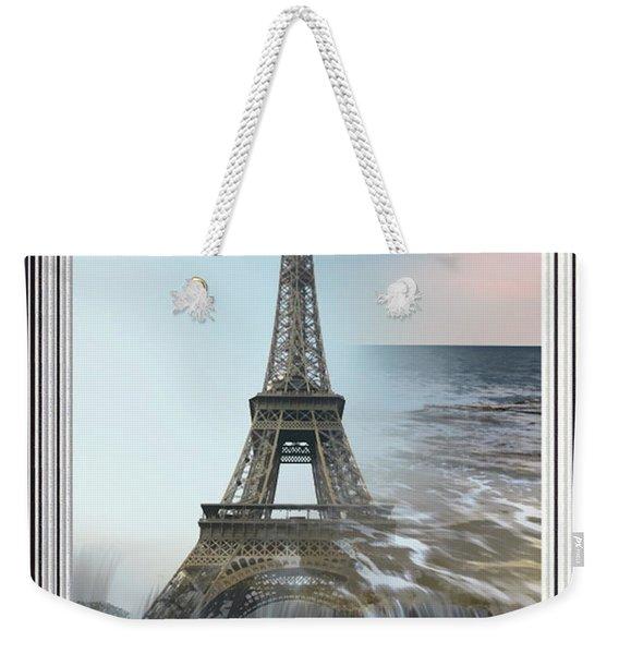 The Eiffel Tower In Montage Weekender Tote Bag