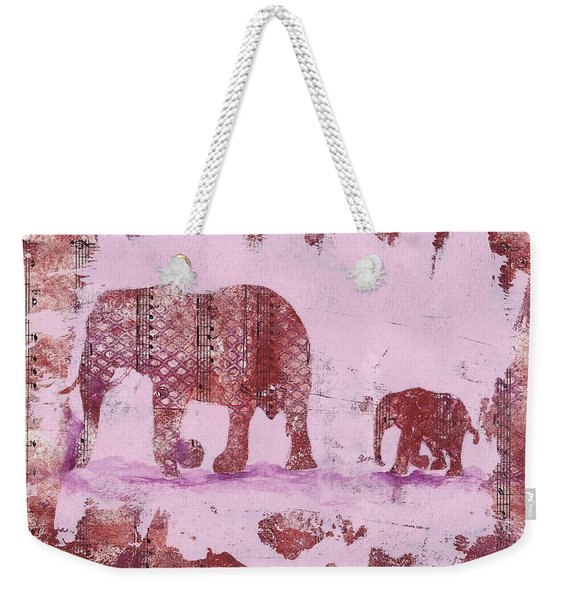 The Elephant March Weekender Tote Bag