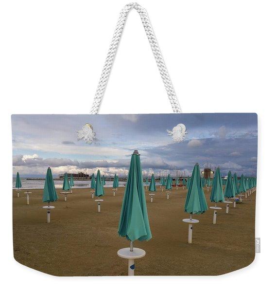 The End Of The Season In Rimini Weekender Tote Bag