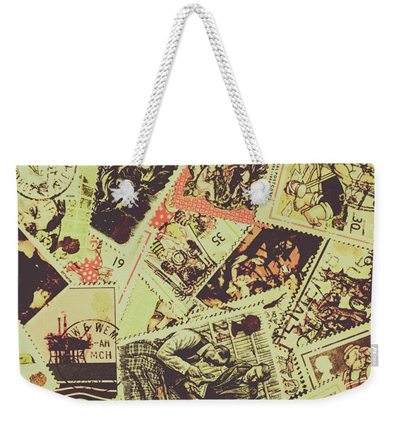 The English Postage Scene Weekender Tote Bag