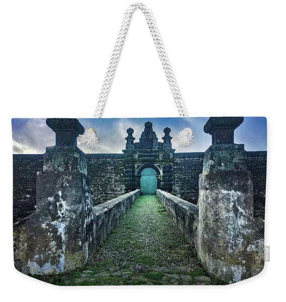 The Entrance To Fortress Of Sao Joao Baptista On Monte Brasil Weekender Tote Bag