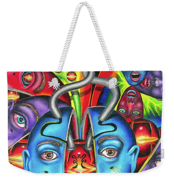 The Esoteric Force Of Molecular Mentality Weekender Tote Bag