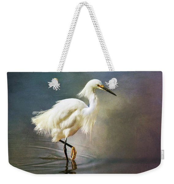 The Ethereal Egret Weekender Tote Bag